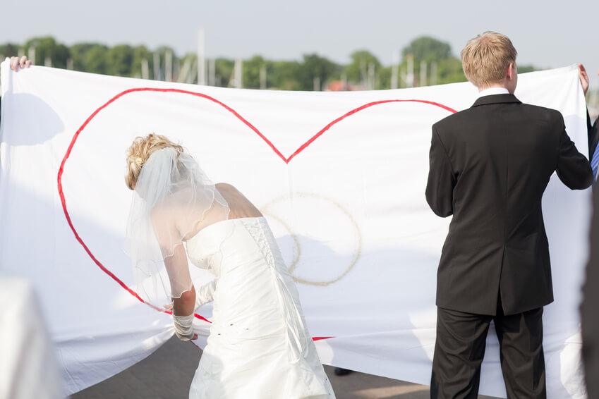 Das Hochzeitsherz  das klassische Hochzeitsspiel