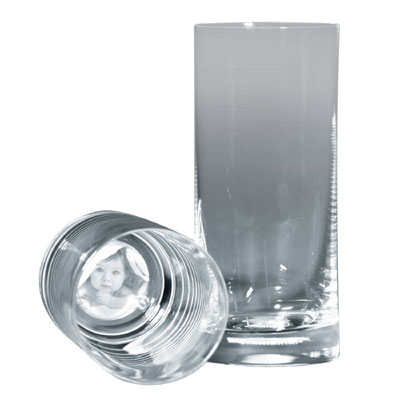 Trinkglas mit Fotogravur  ein persnliches Geschenk als