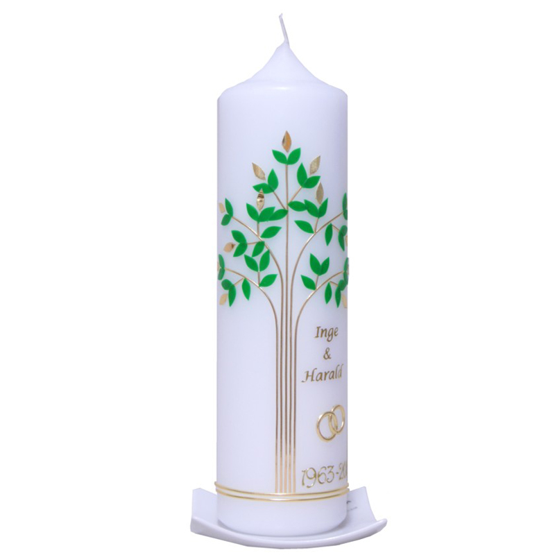 Hochzeitskerze Lebensbaum ein persnliches Geschenk als