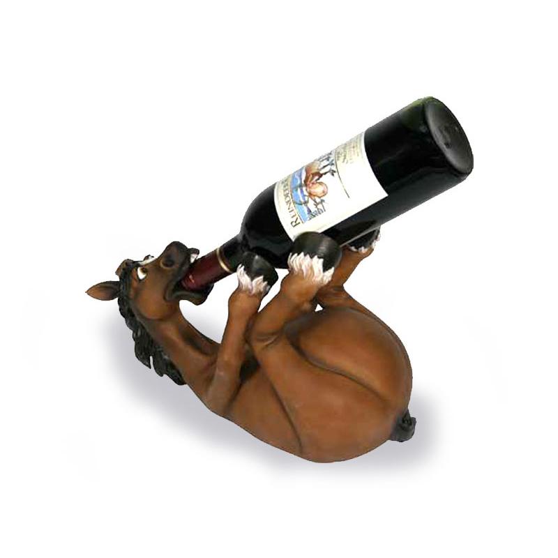 Weinflaschenhalter  Pferd ein persnliches Geschenk als