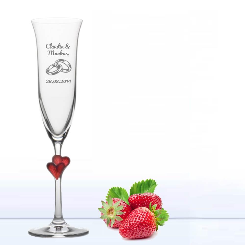 Sektglas graviert zur Hochzeit  Geschenkplanet