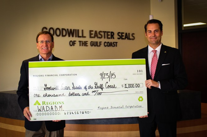 Frank Harkins, Goodwill Easterseals, and Brian Willman, Regions Bank