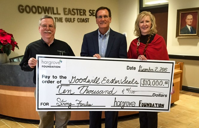 Dennis Watson (Hargrove Foundation), Frank Harkins (Goodwill Easterseals), and Vickie Studstill (Hargrove Engineers + Constructors)