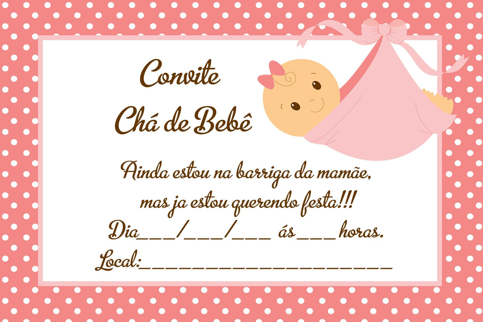 cartao de agradecimento de cha de bebe para imprimir