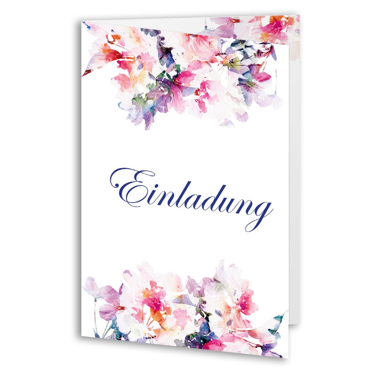 Einladungen zum Geburtstag Rosen Blumen Klappkarten Einladungskarten  eBay