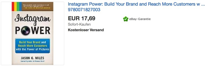 Instagram Fake accounts bei eBay, davon sollte man die Finger lassen!