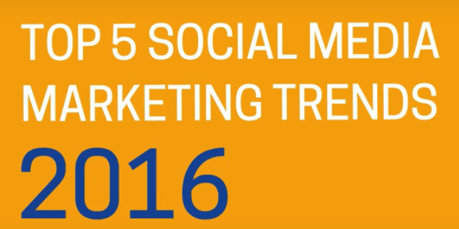 Social Media Trends - Was uns 2016 erwartet Die Top 5 Digitaltrends der Experten