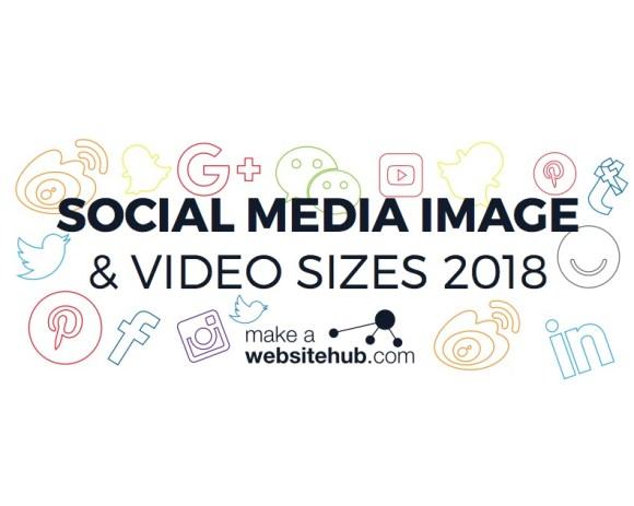 Bildmaße 2018 für die Netzwerke 2018