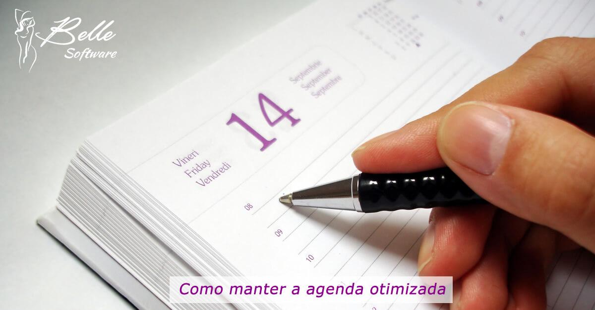 manter a agenda otimizada para agendar