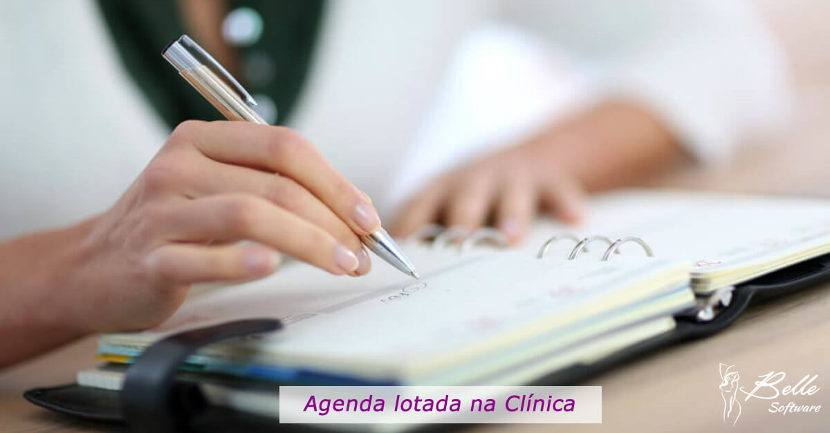 agenda lotada na clinica