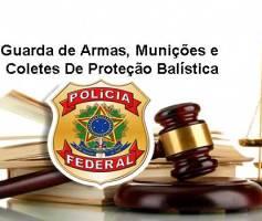 Guarda de Armas Munições e Coletes De Proteção Balística