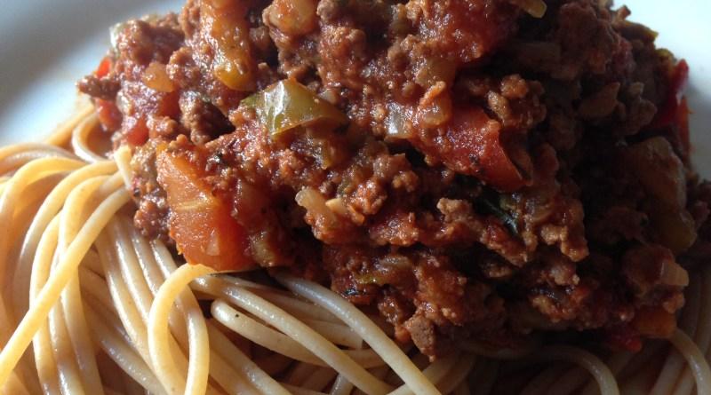gestational diabetes spaghetti bolognese