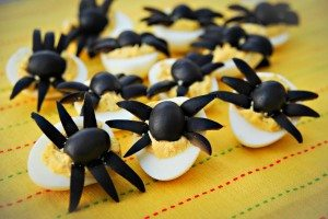 Spider-deviled-eggs