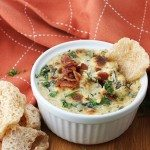 bacon roasted garlic spinach dip