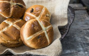 Sugar free, lower carb hot cross bun