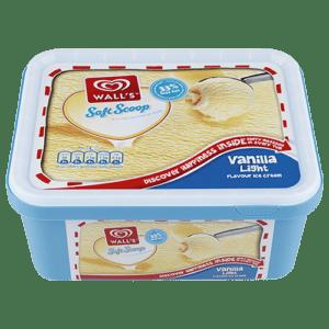 Walls Light Soft Scoop Vanilla Ice Cream
