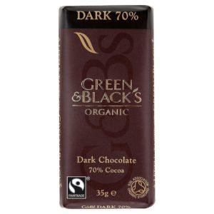 green & black's 70%