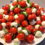 tomato mozzarella kebabs