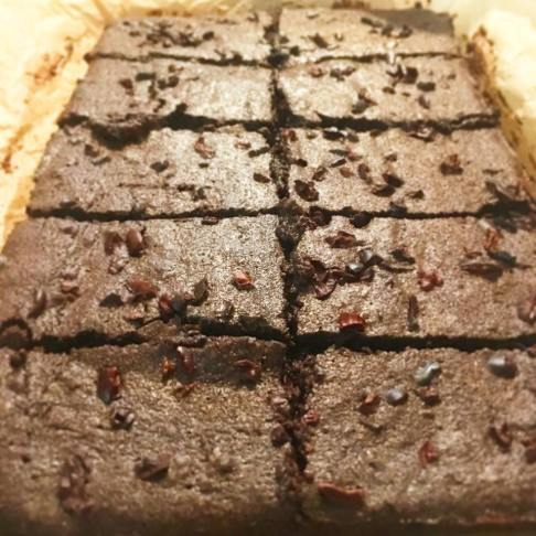 brownies just out the oven