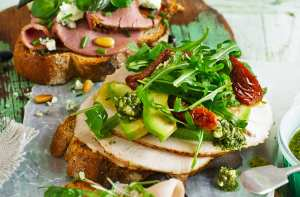 Turkey & avocado open sandwich