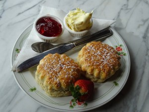 scone and clotted cream