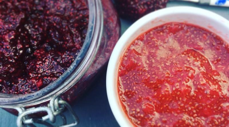 raw chia seed jam
