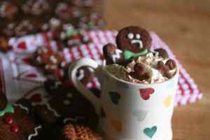 Sugar Free Gingerbread Latte and gingerbread men