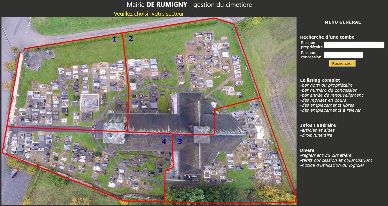 Logiciel cimetière 480 emplacements