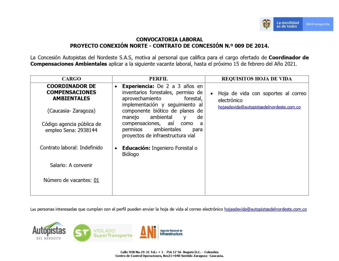 vacante-para-coordinador-de-compensacion-ambiental-autopistas-del-nordeste