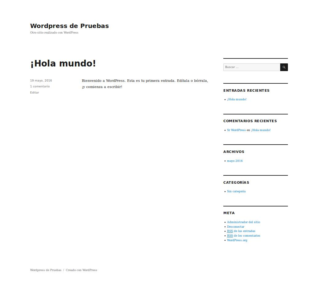 frontend de wordpress