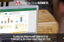 Planilha para Planejamento de Comunicação na Construção Civil