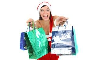 Weihnachtlicher Einkaufsstress