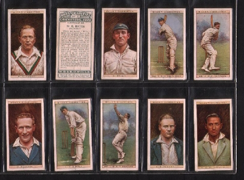 Cigarette Cards Cricketers 1928 Set Of 50 By Wills