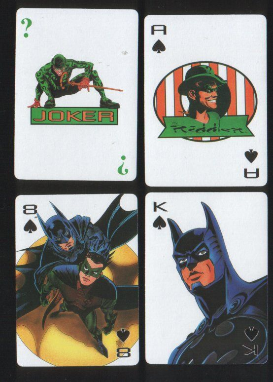Collectable Playing Cards Batman Forever 1994