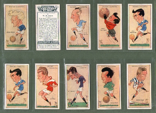 Football Cards Cigarette Cards Football Caricatures 1927