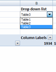 Create also change pivot table data source using  drop down list rh get digital help