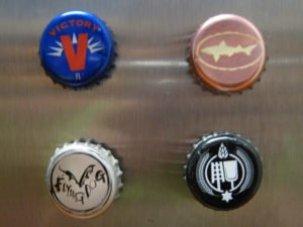DIY beer bottle magnets
