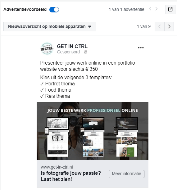 Facebook advertentie - www.get-in-ctrl.nl