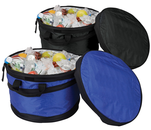 Barrel Cooler w Insulated Lid  Collapsible  Soft Sided