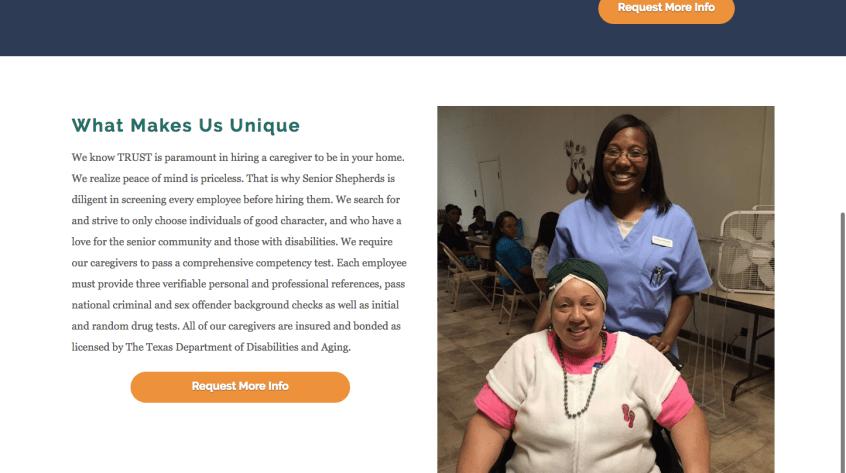 Senior Shepherds Website Design