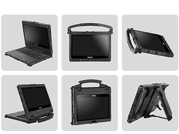 graphic showing versatility of K120 in many different positions and accessory configurations