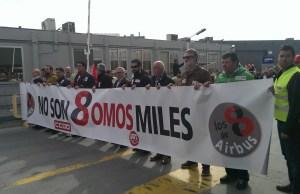 Manifestación por los trabajadores de Airbus