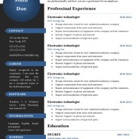 Curriculum vitae resume templates #386 to 391