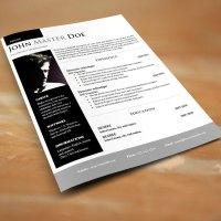 Creative design resume .DOC format (#820 - 825)