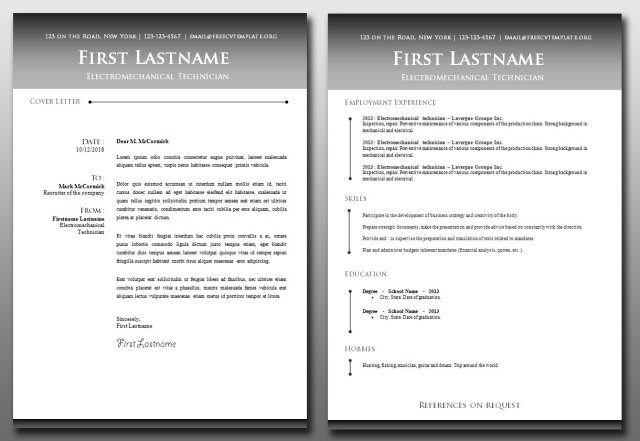CV and Cover Letter Bundle #9