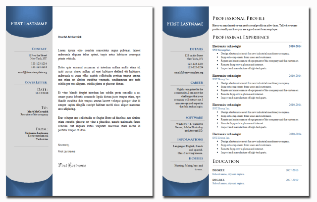 CV and Cover Letter Bundle #22