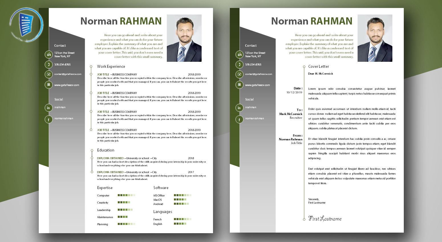 Professional Cv And Cover Letter Templates Get A Free Cv