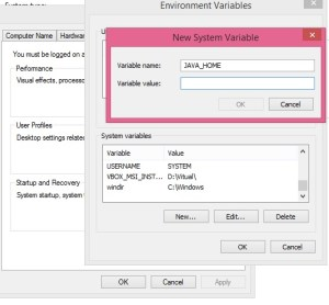 Java Environment Variables, setting Environment Variables, Environment Variables setup
