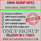 Buy email signup votes
