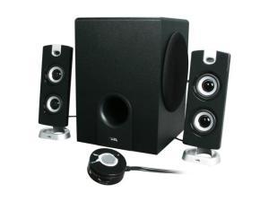 Cyber Acoustics CA-3602 30 Watts 2.1 3 Piece Flat Panel Design Subwoofer & Satellite Speaker System